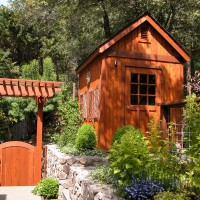 Photo Thumbnail #7: Gate with arbor for access into garden.  Garden...