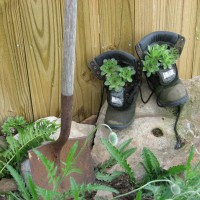 Photo Thumbnail #19: Old shovel & boots.