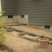Photo Thumbnail #22: Railroad ties to create stepdown in garden....