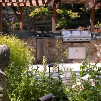 Photo Thumbnail #3: Outdoor kitchen with infrared grill from Marin...