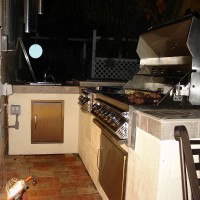 Photo Thumbnail #8: Cooking at night while waiting for a hurricane....