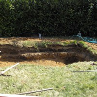 Photo Thumbnail #9: To make the sides level I had to pile sod...