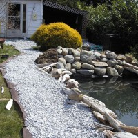 Photo Thumbnail #22: Stone path along one side of the pond. Low...