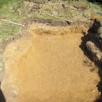 Photo Thumbnail #7: Bottom pond finished. Nice smooth sandy bottom....