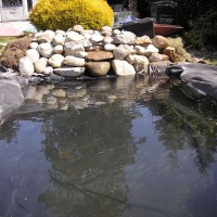 Photo Thumbnail #16: Rocks in Place. Ponds filled. Top Pond has a...