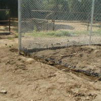 Photo Thumbnail #3: Need to concrete bottom of fence to prevent...