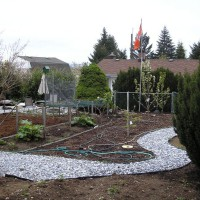 Photo Thumbnail #9: Bottom right after landscaping.All mulch and...