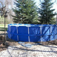 Photo Thumbnail #8: this above ground pool is sitting on about 6in...