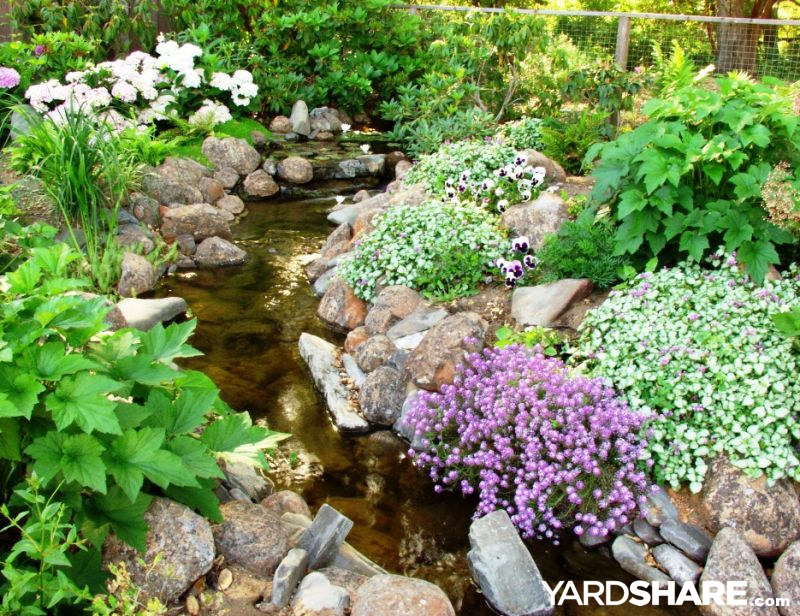 landscaping ideas gt backyard stream yardshare com