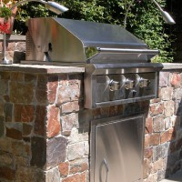 Photo Thumbnail #2: Close-up of outdoor kitchen.