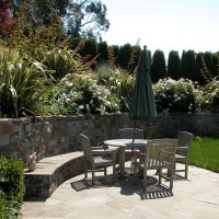 Photo Thumbnail #5: Bluestone patio with outdoor dining area.