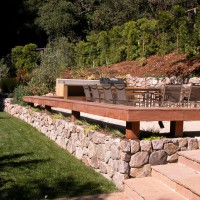 Photo Thumbnail #6: Flagstone steps lead up to spa access and...
