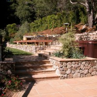 Photo Thumbnail #5: Spa is built in.  Flagstone patio and Napa...