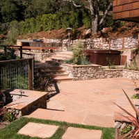Photo Thumbnail #9: Flagstone patio view from lawn.