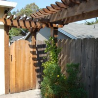 Photo Thumbnail #4: Side yard gate. Used 6x6 posts, which matched...