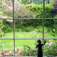 Photo Thumbnail #1: View from living room. Springtime bloom, with...