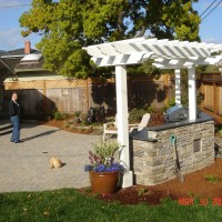 Photo Thumbnail #23: backside of outdoor kitchen and pergolla