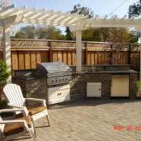 Photo Thumbnail #20: outdoor kitchen with DCS grill, refrigerator...