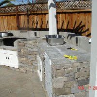 Photo Thumbnail #4: Construction of the outdoor kitchen