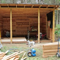 Photo Thumbnail #8: April 24, 2010.  The Cowboy Cabin is starting...