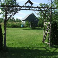 Photo Thumbnail #2: My husband built this cedar arbour-it's 8 feet...