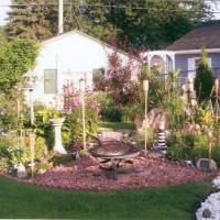 Photo Thumbnail #18: The peace garden contains a birdbath fire pit,...