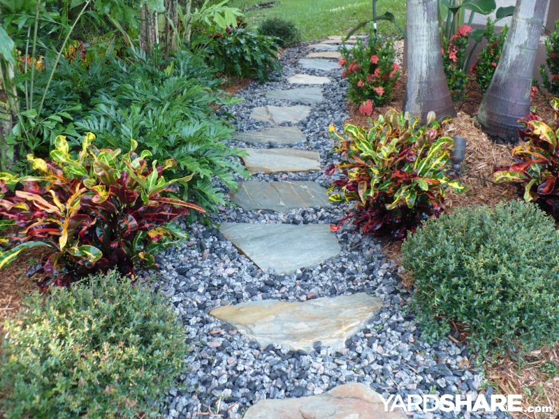 Landscaping ideas tropical beauty by robert for Landscaping rocks jacksonville fl