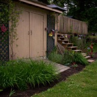 Photo Thumbnail #14: My garden shed. We added another set of steps...