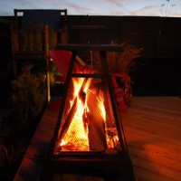 Photo Thumbnail #2: Fire on the deck