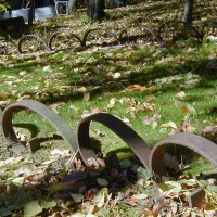 Photo Thumbnail #12: These are heavy iron tines off of a plow or...