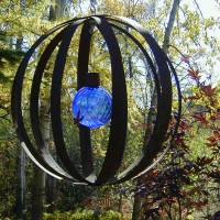 Photo Thumbnail #1: I made this sphere from metal strappings that...