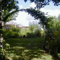 Photo Thumbnail #11: A very large arch that my lady friend welded...