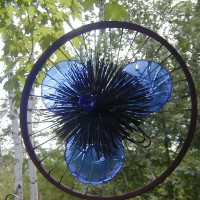 Photo Thumbnail #21: Another sculpture I created from a bicycle rim,...