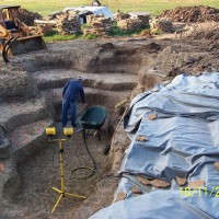 Photo Thumbnail #10: Pouring footings for stepping stones