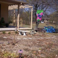 Photo Thumbnail #3: BEFORE entrance to side yard with added pergola...