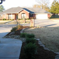 Photo Thumbnail #4: A veiw of the new landscaping from the front door.