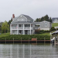 Photo Thumbnail #1: The back of our lake house.