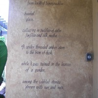 Photo Thumbnail #6: Poem my daughter wrote for me about my garden.