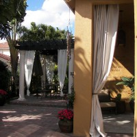Photo Thumbnail #2: Added curtains later to the porch.  $20.00...