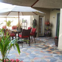 Photo Thumbnail #2: The 'umbrella stage' --we completed our patio...