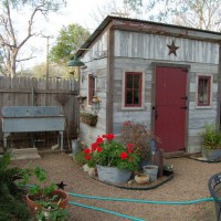 Photo Thumbnail #4: Our outdoor sink and garden shed.  This houses...