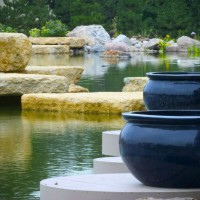 Photo Thumbnail #9: Aquatic bowls sit atop recycled decks that...