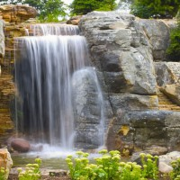 Photo Thumbnail #3: Close-up view of the main 10-foot waterfall....
