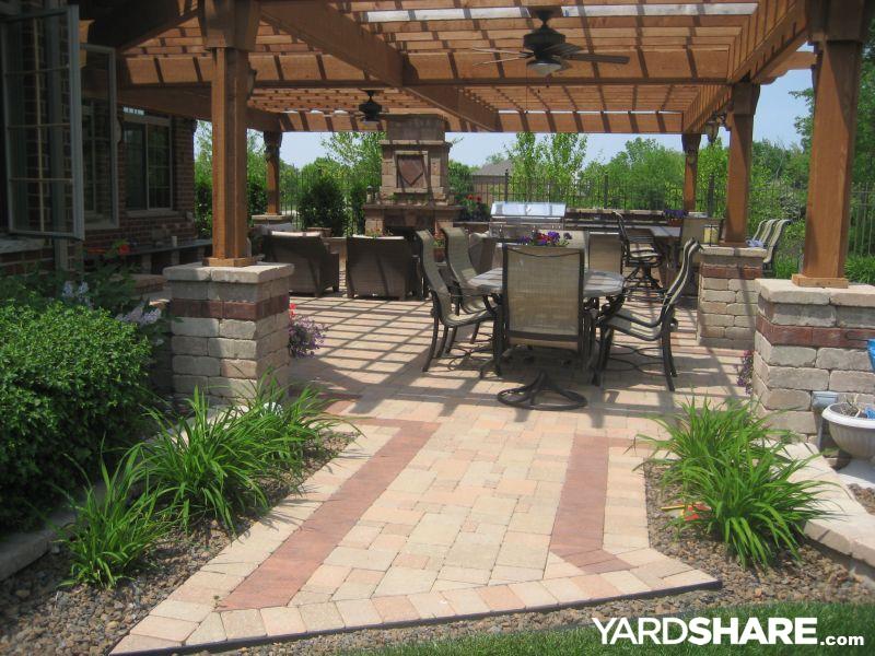 Landscaping Ideas Outdoor Kitchen Pergola Paver Patio