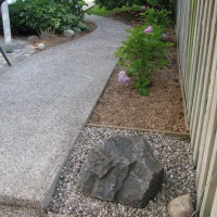 Photo Thumbnail #3: Exposed aggregate Concrete walkway...
