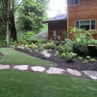 Photo Thumbnail #21: Walkway crossing artificial turf in backyard