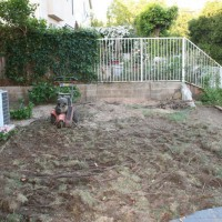 Photo Thumbnail #2: At the end of day one, the tree is gone and the...