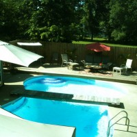 Photo Thumbnail #7: We decided to build a bridge over the pool to...