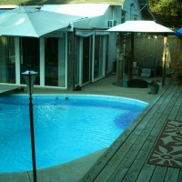 Photo Thumbnail #8: We built a deck over a large dip in the yard...