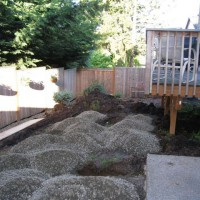 Photo Thumbnail #1: Removed tiny strip of grass, brought in gravel...